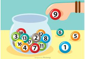 Vaso de vidrio de la lotería Vector