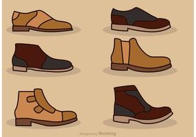Man Shoes Vector Icons