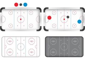 Vectores de pista de hockey