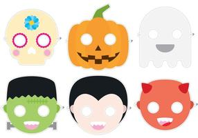 Vectores de la máscara de Halloween