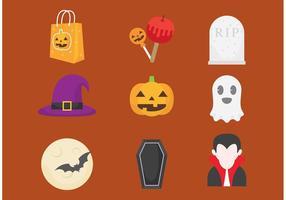 Halloween vektor ikoner
