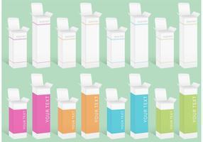 Medicina ou cosméticos vetores de caixa
