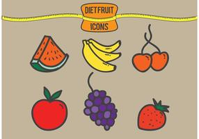 Vetores de frutas da dieta