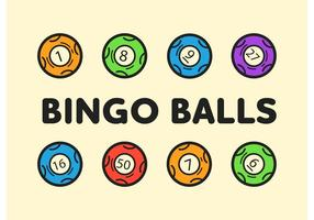 Bingo-ball icônes vectorielles modifiables
