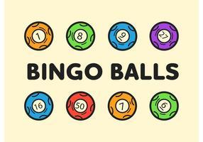 Bingo Balls Editable Vector Icons