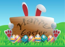 Fondo feliz del vector de Pascua