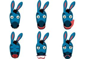 Vector Donkey Faces