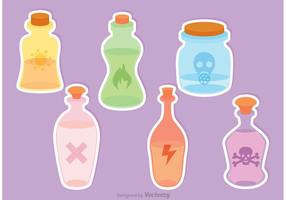 Vetor de garrafas de poção tóxicas