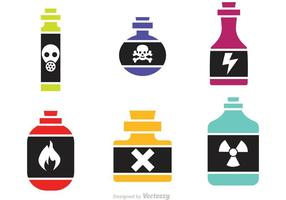 Poison Flasche Vektor Icons