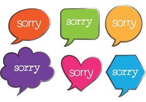 Sorry spraakbellenvectoren