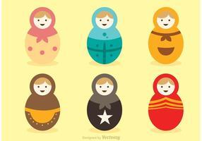 Vetores da boneca da Rússia