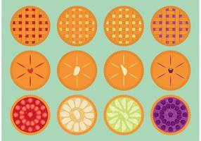 Vectores de la torta de la fruta