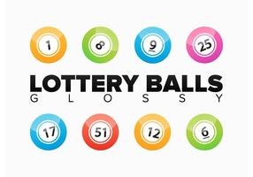 Lottery Balls Glossy Vector Editable