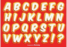Alphabet de style comique