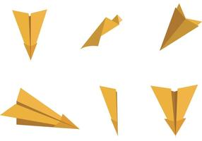 Paper Plane Vector Illustrations