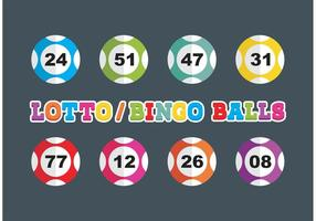 Bolas de lotería y Bingo vector libre