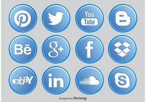 Social Media Button Pictogrammen
