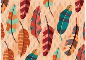 Vector Boho Feather Illustration