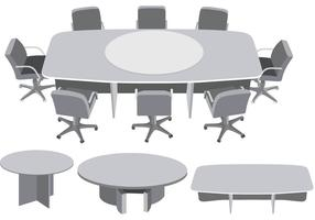 Vecteur de réunion de table ronde