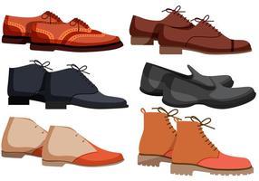 Vectores de zapatos para hombre