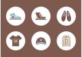 Iconos libres del vector de la ropa de los hombres