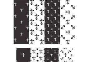 Fleur De Lis Vector Seamless Patterns