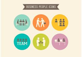 Retro Business People Vector Icons