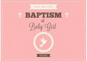 Free Baby Girl Baptism Vector Invitation