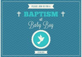 Baby Boy Baptism Vector Invitation