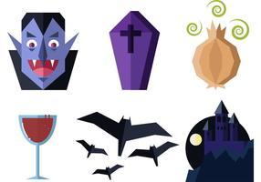 Flache Dracula-Vektoren