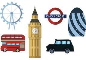 Ciudad de Londres Scape Vector Set