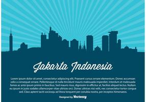 Ilustración del horizonte de Indonesia de Jakarta