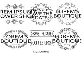 Cute Hand Drawn Editable Labels