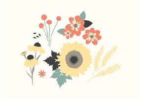 Autumn Floral Vectors