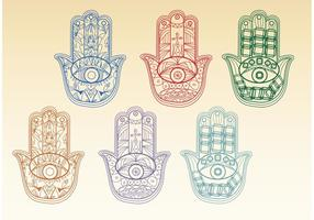 Boho Hamsa Hand Vectors