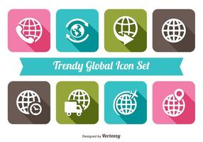 Trendy Global Icon Set
