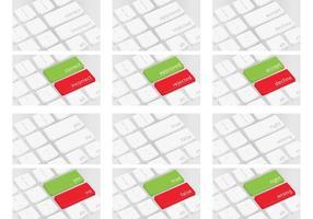 Correct Incorrect Keyboard Vectors