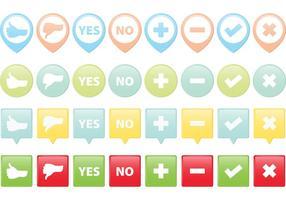 Correct Incorrect Vector Buttons