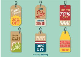 Summer Discount Price Tags vector