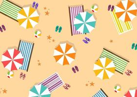 Summer Beach Umbrella Vector
