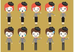 Mime Vector Characters