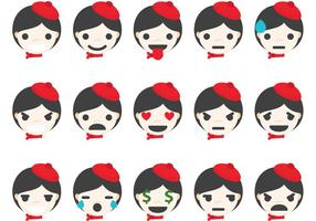 Mime Emoticons vector