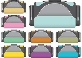 Vecteurs de sac à dos sport colorés