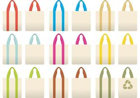 Vectores coloridos del bolso de paño