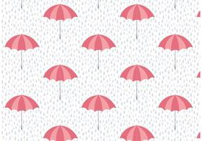 Umbrella and Rain Vector Pattern