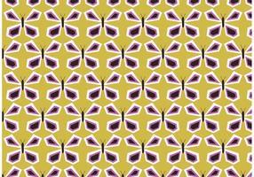Retro fjäril vektor mönster