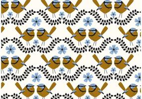 Blue Wren Repeat Pattern vector