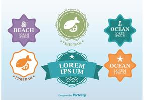 Beach Time Seafood Badges