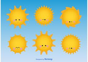 Mignon personnage solaire