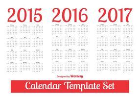 Conjunto de modelos de calendário